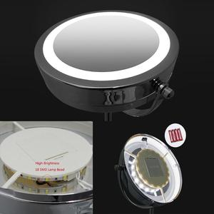 Image 5 - LED Makeup Mirror Cosmetic Mirror 7 Inch 10x Magnification Dual Sided 360 Degree Rotating Professional Make up Mirror