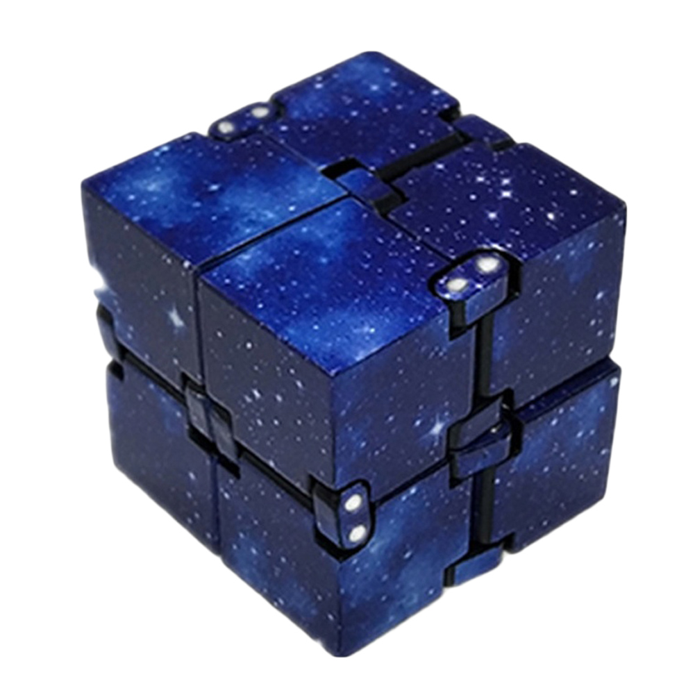 Galaxy ABS Infinity Cube For Stress Relief Fidget Anti Anxiety Stress Magic Cube For Kids Adult Mini Fidget Toy Finger EDC Toy(China)