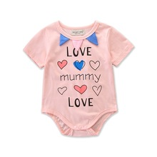 VTOM Baby Summer Rompers Infant Short Sleeve Jumpsuits Baby Boys Girls Rompers Newborn Baby Cotton Jumpsuit Baby Clothes