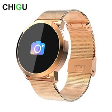 New Q8 Bluetooth Smart Watch Stainless Steel Waterproof Wearable Device Smartwatch Wristwatch Men Women Fitness Tracker
