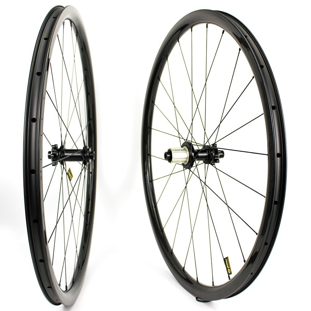 Image 5 - 700c Carbon Wheel 32*35mm Tubeless Ready Rim Optional 6 Types Of  Hub And Pillar 1423 Spoke For Road Disc/Cyclocross/gravel BikeBicycle Wheel   -