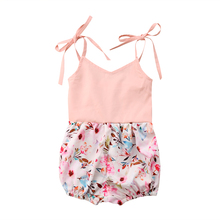 one piece beachwear  Baby Girls Flower Romper Bodysuit Jumpsuit Outfit Clothes Summer holiday beach cloth 0-24M summer fashion baby boys halloween one piece bodysuit mommy s little nightmare print baby gentleman jumpsuit clothes outfit ds9