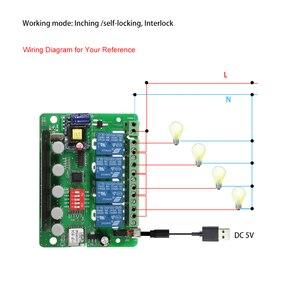 Image 2 - EWeLink חכם שלט רחוק אלחוטי מתג אוניברסלי מודול 4ch DC 5V Wifi מתג טיימר טלפון APP שלט