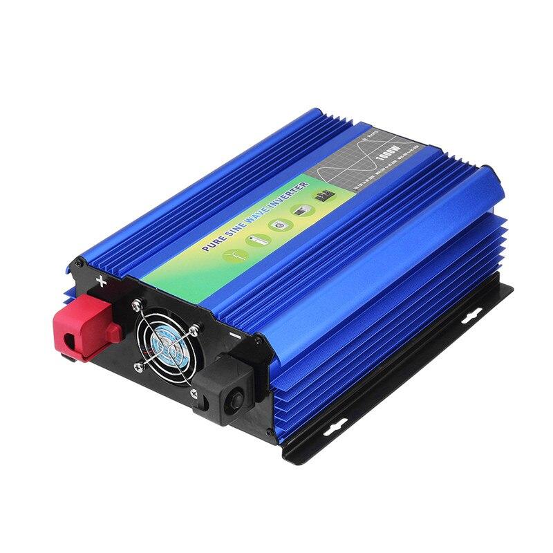 1 pc Durable 1000 W DC 12 V à 220 V AC pur onduleur à onde sinusoïdale 50Hz 275x190x110mm pour les appareils ménagers