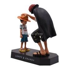 Anime una pieza cuatro emperadores Shanks Luffy sombrero de paja PVC figura de acción de muñeca niño Luffy colección modelo de juguete de regalo de Navidad