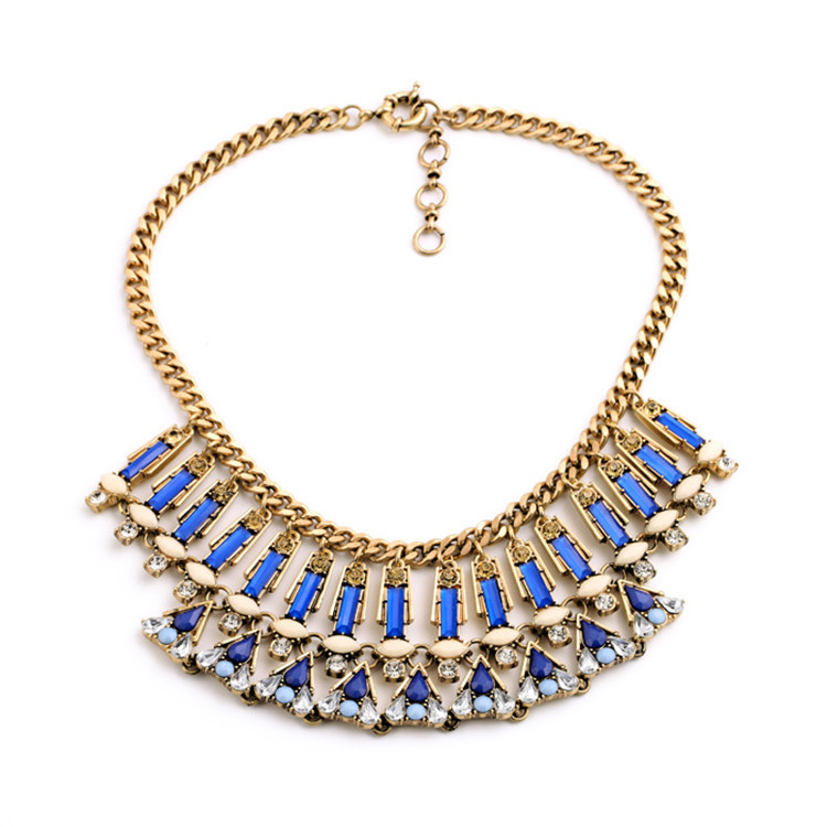 Noble Elegant Colorful Versatile Necklace European And American Retro FashionNecklace