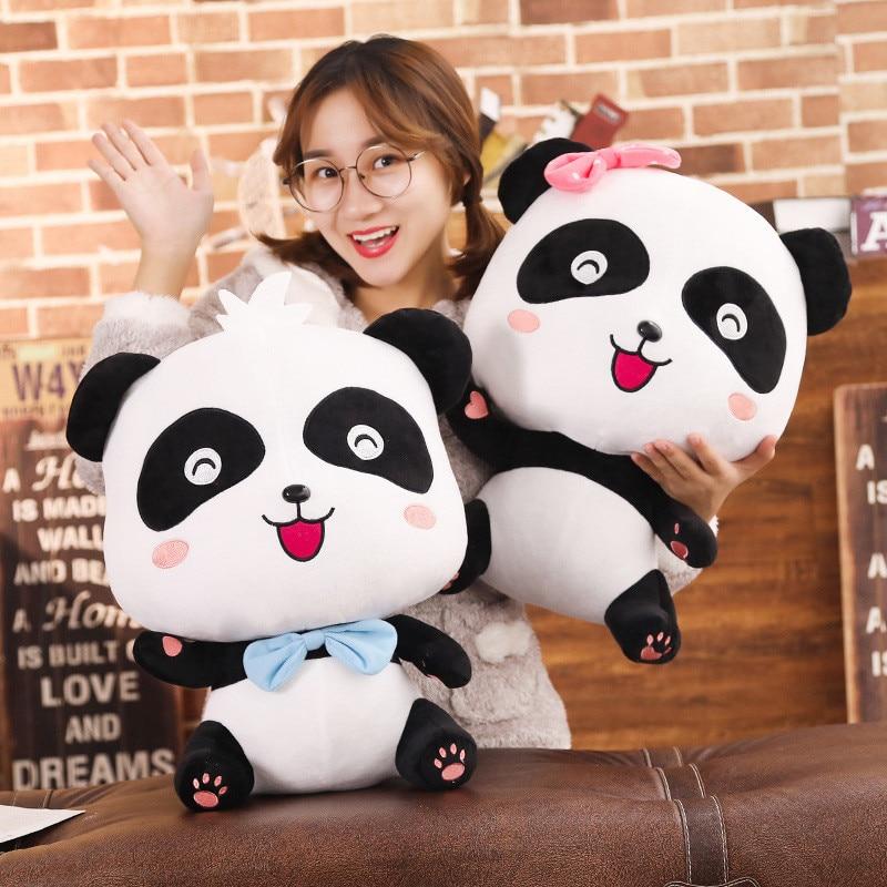 1 Stück 20/35/50 Cm Kawaii Cartoon Panda Tier Plüsch Puppe Nette Weiche Panda Bär Plüsch Kissen Kind Baby Weihnachten Geschenk FüR Schnellen Versand