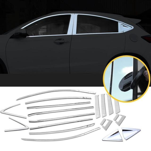 Chromium Automovil Body Window Exterior High-Grade Modification Car Styling Trim Decoration Sticker Strip 17 FOR Honda XR-V