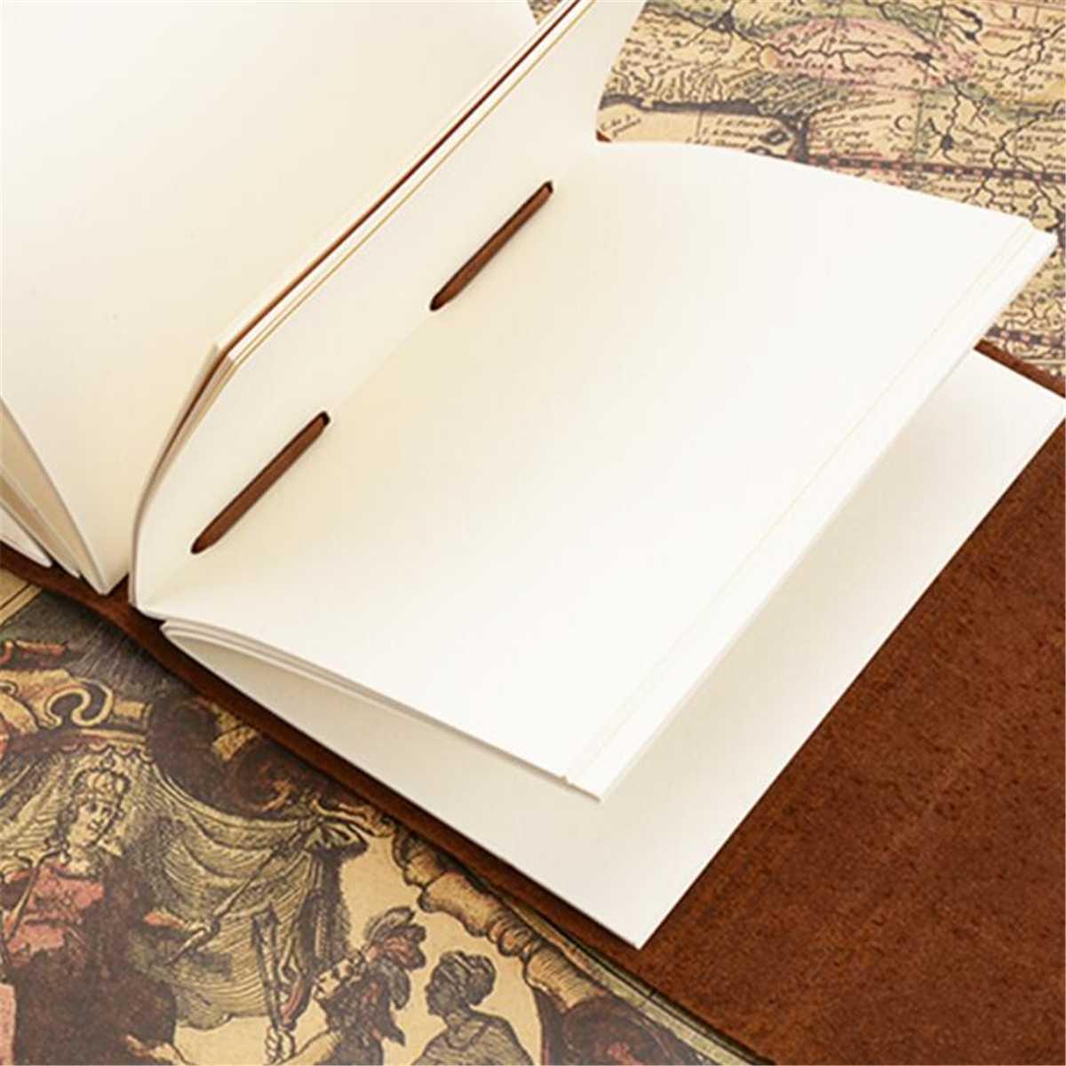 Genuine Leather Diary Write Notebook Retro Travel Journal Travel Handmade  Vintage Writing Paper Hard Cover Sketchbook School