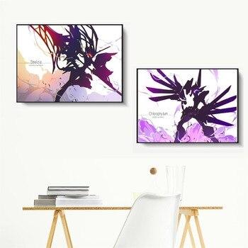 Liebling In Die Franxx Minimalistischen Figuren Leinwand Kunst Malerei Poster Und Druck Wand Bilder Für Wohnzimmer Home Decor Unframed