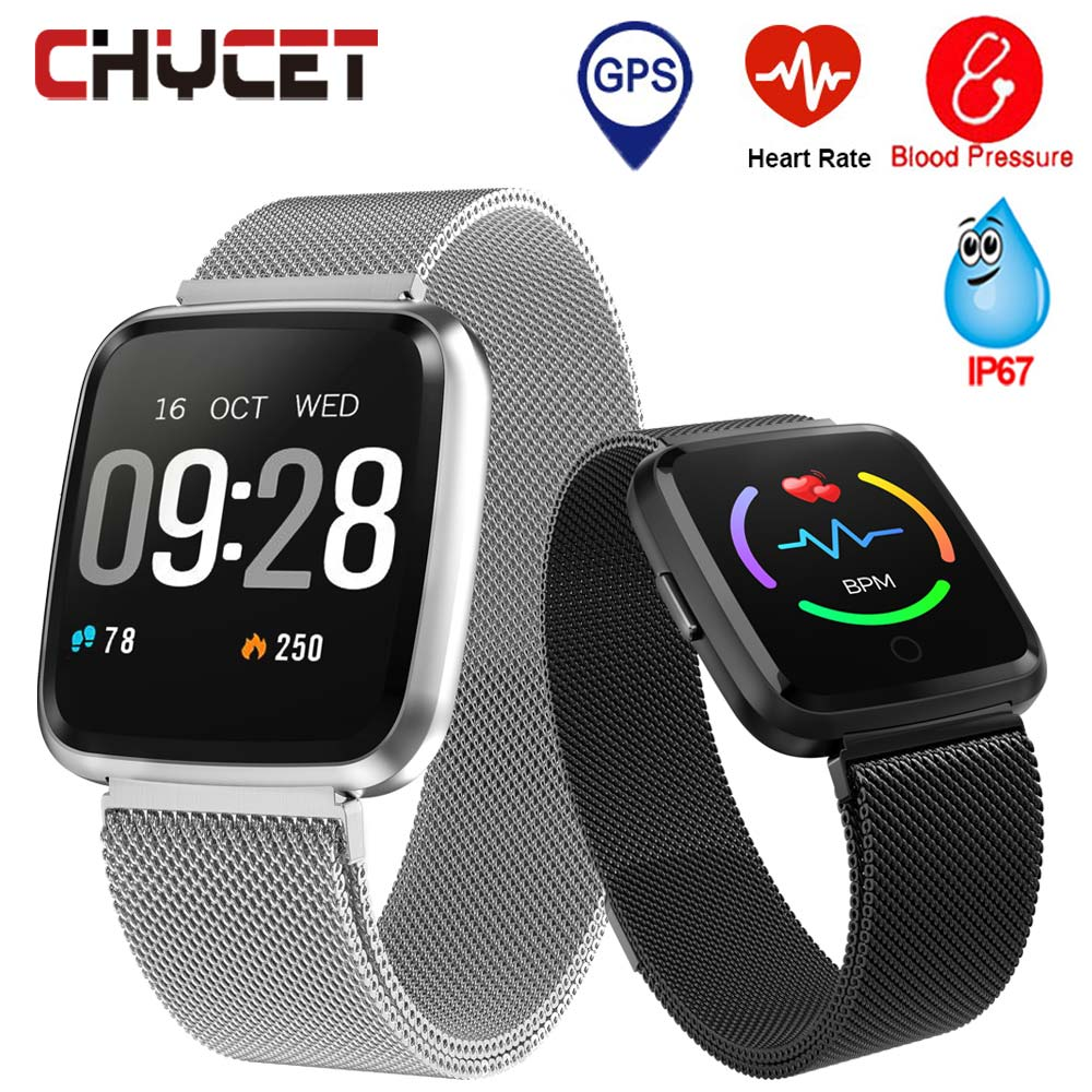 Smart Watch <font><b>Y7</b></font> Men Women Fitness Tracker Watch Blood Pressure Waterproof IP67 <font><b>Smartwatch</b></font> GPS Activity Tracker For Android IOS image