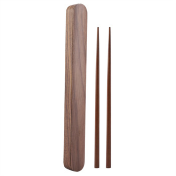 Home Eco-friendly Natural Bamboo Wood Wooden Reusable Chopsticks Sushi Food Stick Chopsticks Storage Case Box Set Home Portable 1