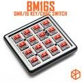 Механическая клавиатура bm16s с 16 клавишами  программируемая плата PCB  макеты цифр qmk  прошивка с rgb-переключателем  переключатель choc