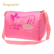 Pink Child Ballet Bag Kids Cavans Dance Bags Lovely Women Crossbody For Ladies Girls
