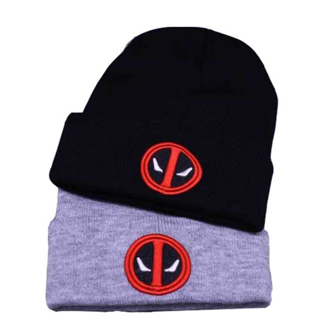 Marvel Avengers Deadpool Hulk Thor Black Skullies Beanie Knitted Cotton Hat  Cap Cosplay Costume Unisex Fashion a3b0b41d6d1