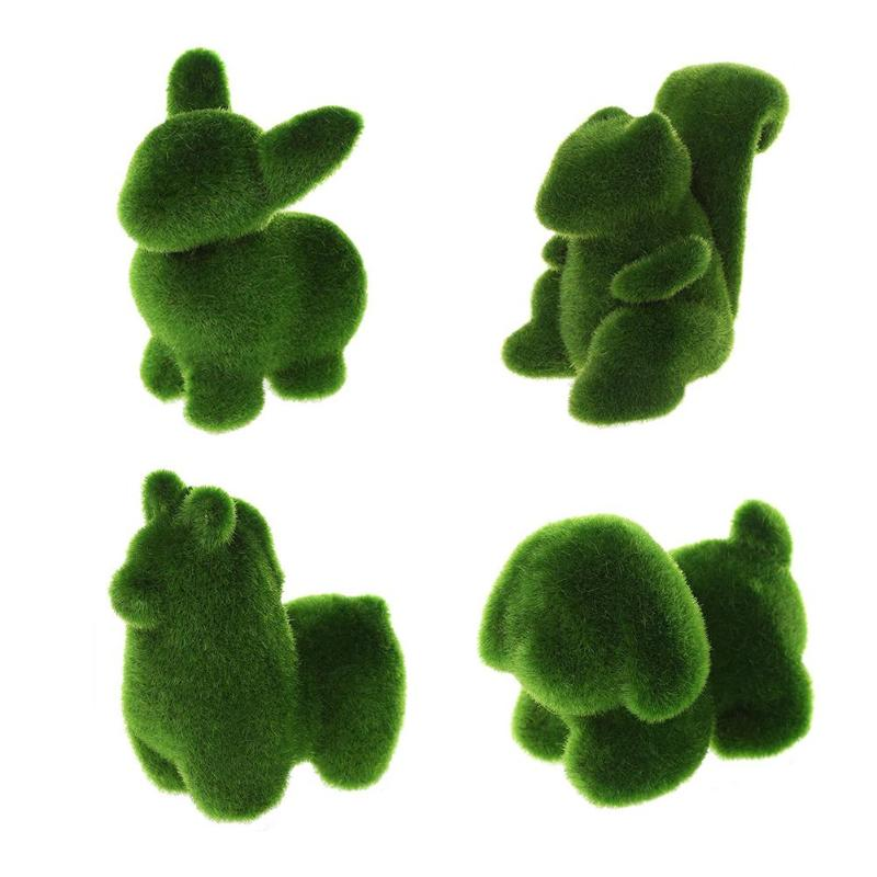 Novelty Handmade Artificial Turf Grass Toy Animal Easter Toy Model Dolls Decor Room Easter Bunny Baby Kids Toy Artwork Handiwork