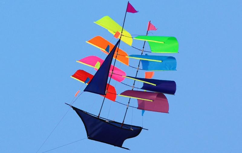 3D Cool Big Sailing Ship Kite Extremely Easy To Fly For