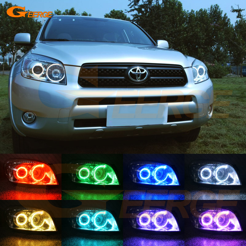 For Toyota Rav4 2006 2007 2008 projector headlight Excellent RF remote control Bluetooth APP Multi Color