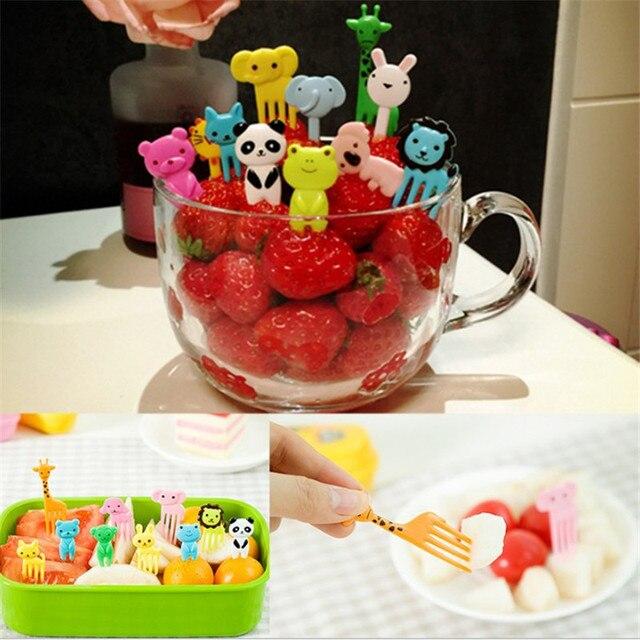 WSOMIGO 10 pz/set Per Bambini di Frutta Forchetta Da Cucina Gadget Unicorno Deco