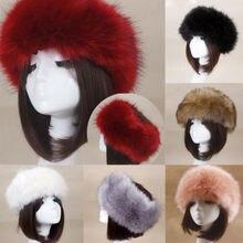 Женская и мужская русская Толстая Пушистая Шапка, меховая головная повязка, шапка, теплый лыжный с подогревом, классические популярные шапки