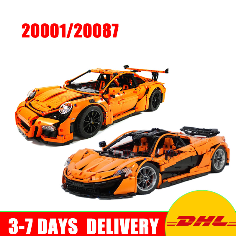 LEPIN 20001 20087 Technic Series Race Car Model Building Blocks Bricks Toys for Children Christmas Gifts Compatible 42056 16915