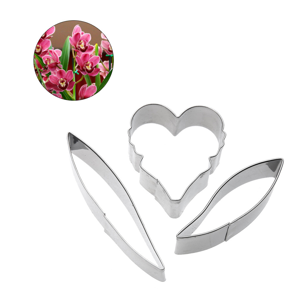 Stainless Steel Clay Cutter Mold Orchid Petal Shape Designer DIY Polymer Clay Flower suculentas Cutting tools in Pottery Ceramics Tools from Home Garden