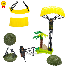 Купить с кэшбэком WW2 battlefield military Building Blocks parachute equipment PUBG Special police Air raid DIY Figures Mini  with toy legoINGlys