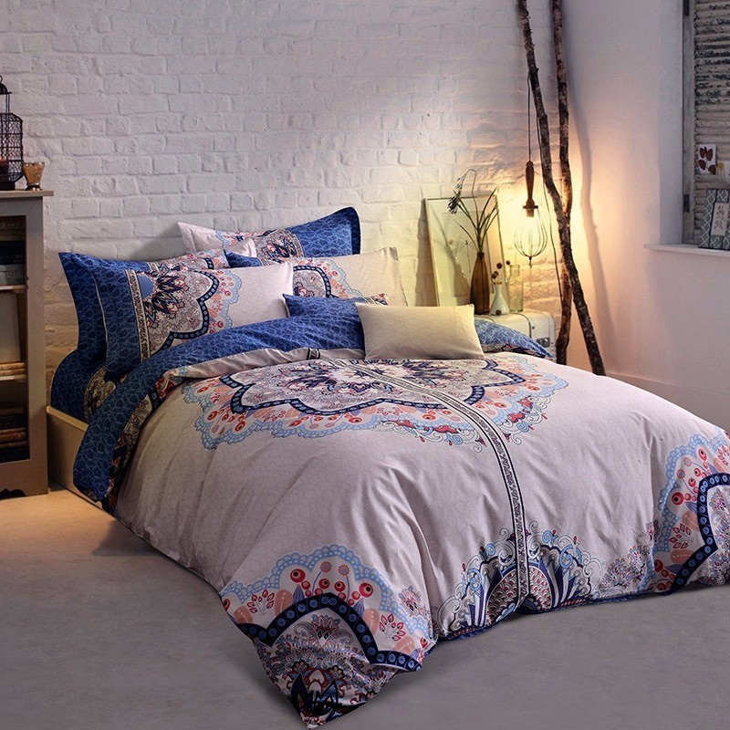 Solstice 100%Cotton Large Printing Flower Chinese Style 4pcs Bedding Sets Bed Linen Bedclothes Printed Bed Sheet Duvet Cover SetSolstice 100%Cotton Large Printing Flower Chinese Style 4pcs Bedding Sets Bed Linen Bedclothes Printed Bed Sheet Duvet Cover Set