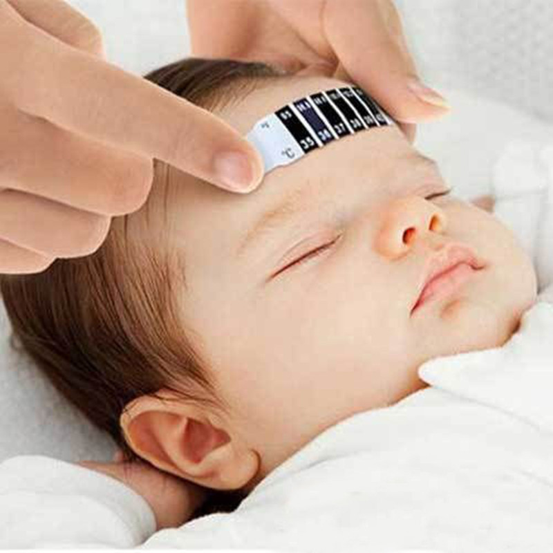 Infant Baby Fever Forehead Strip Head Temperature Test Thermometer Sticker 2019 Free Shipping