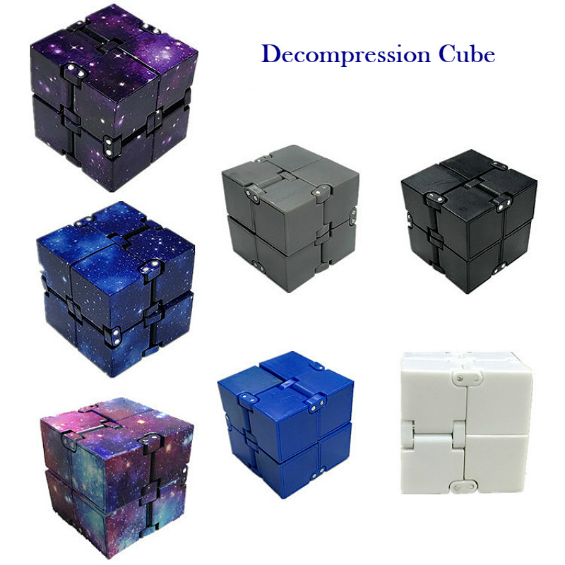 Decompression Magic Cube 2 In 1 Flip Cube Anti-pressure Magic Device Creative Finger Decompression Magic Cube Toy