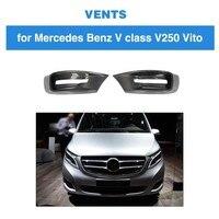 Для Mercedes Benz V Class W447 2018 2014 MPV голова переднего бампера для губ Air Vent Fender Trim углеродное волокно аксессуары