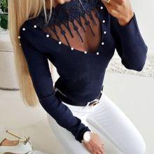 Новые свитера женские осенние сексуальные с длинным рукавом с v-образным вырезом однотонный вязаный пуловер Женские повседневные однотонные свитера Топы