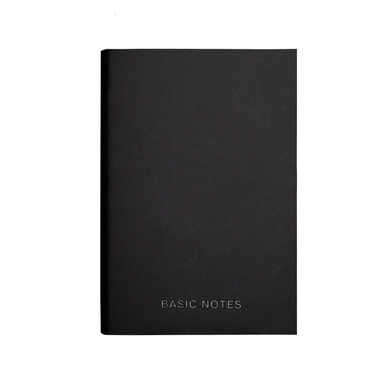 EZONE Black PU Cover Notebook A5 A7 Note Book Business Style Notepad Planner Daily Blank Line Pages School Office Supplies in Notebooks from Office School Supplies