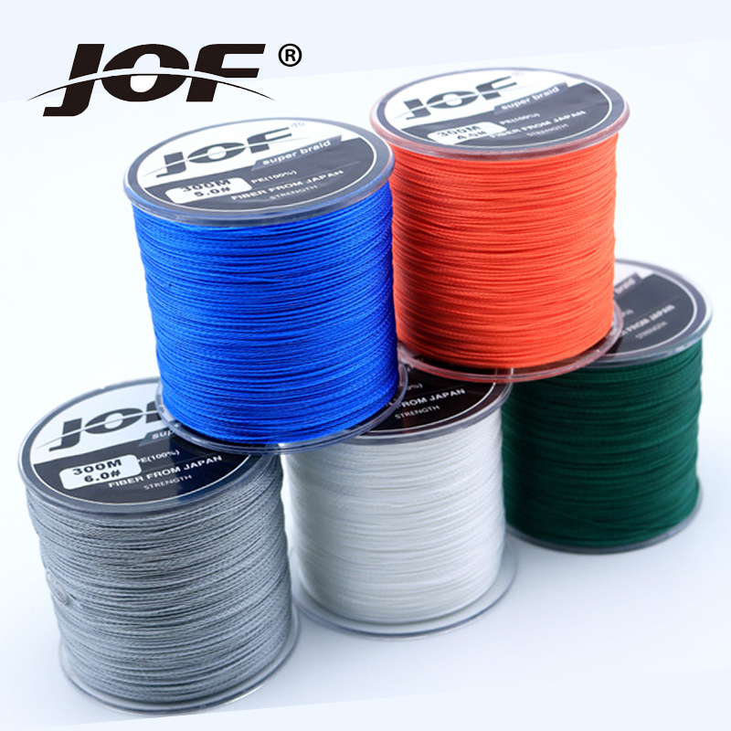 JOF Super Strong Carp Fishing Line 1000M 8 Strands Braides Fly Lines Colorful 100 PE Fishing