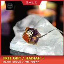 Elite Orgonite Energy Crystal Pendant Silver Necklace A Solution for Physical, Emotional-Negativity Removal Stone