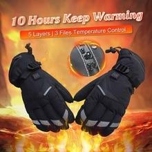 Водостойкие теплые перчаток питание для мотоцикла Охота зимние теплые Guantes Moto Luvas Motosiklet Eldiveni защитный