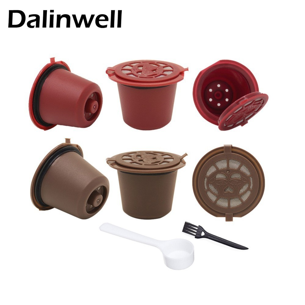 COFFEE-FILTER Nespresso Kitchen-Accessories Reusable 4PCS For With Spoon-Brush 20ml