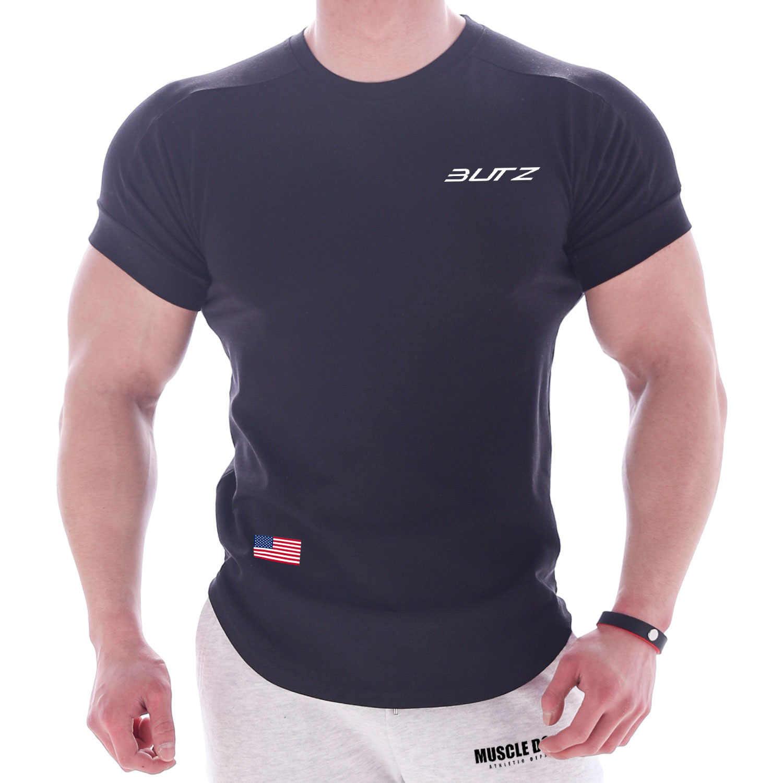 新ファッション Tシャツ男性通気性レジャーコットントップスクリニーク服ジムフィットネス Tシャツ男性ショート sleevs トップ Tシャツ