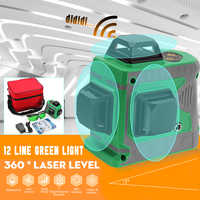 Laser Level 3D 12 Line Green Light Auto Self Leveling 360 Rotary Measure Horizontal Vertical Cross Self-Leveling 635nm Stability