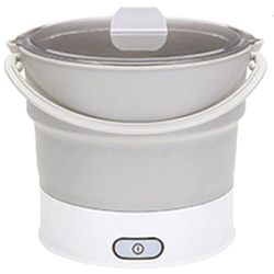 Folding Electric Skillet Kettle Heated Food Container Heated Lunch Box Cooker Portable Hot Pot Cooking Tea Us Plug