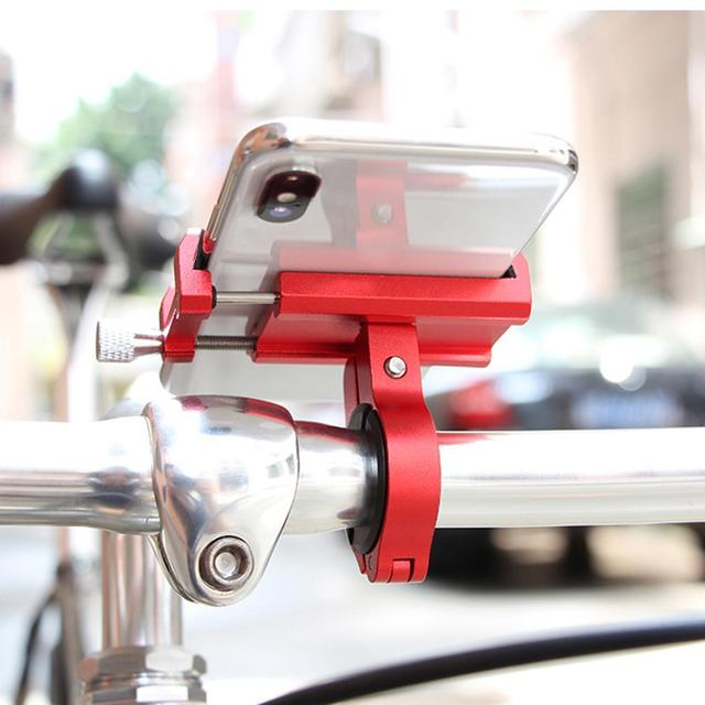 Metal General Bicycle Motorcycle Handlebar Phone Claw, Telescopic Spiral Square Bike Stand Holder Bike Stand