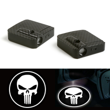 цена на car Door Welcome Laser Projector The Fit For Punisher Skull Logo Ghost Shadow LED Light 12V