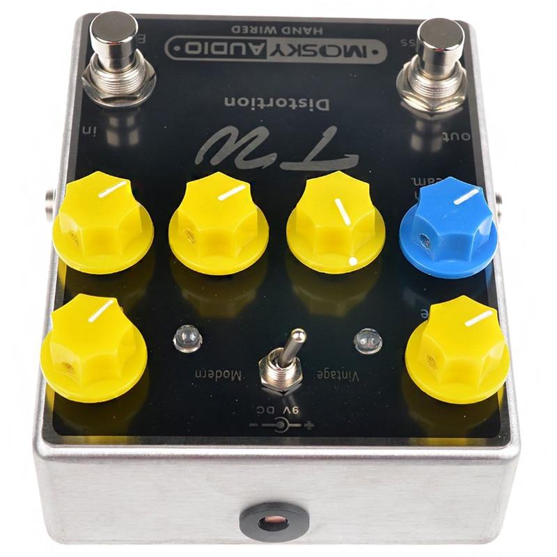 Mosky TW distorsion guitare effet pédale de haute qualité avec condensateurs/résistances/IC trois bandes EQ effets - 2