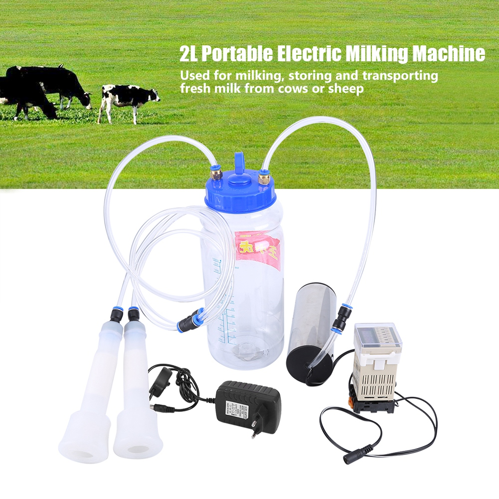 Electric Milking Machine Farm Cow Pulse Controller Upgraded Head Milk Suction