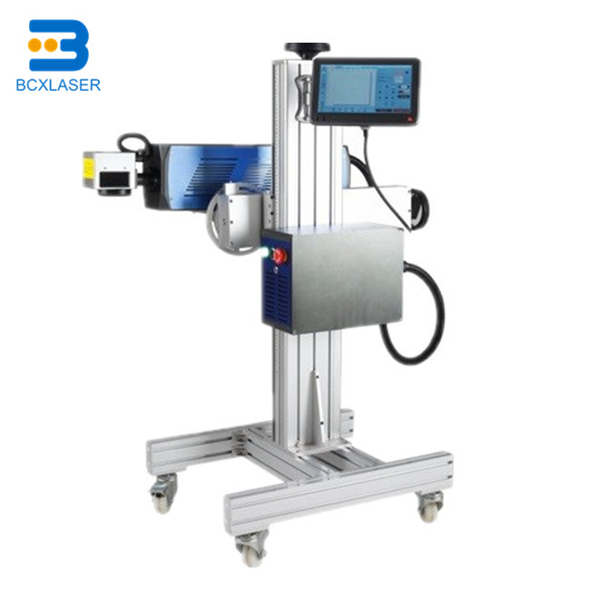 20W 30W High Speed Fly Fiber Laser Wire Cable Pipe Marking Machine For Production Line