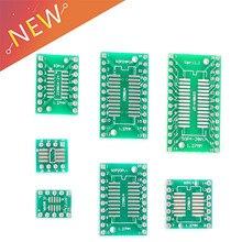 10 шт. набор печатных плат SMD Поворотный адаптер DIP преобразователь пластина SOP MSOP SSOP TSSOP SOT23 8 10 14 16 20 28 SMT To DIP