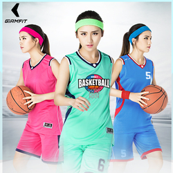 Basketball Jerseys Sets Uniforms kits for Girl Sports Clothing Breathable College Team Training Jerseys Basketball Shorts Custom