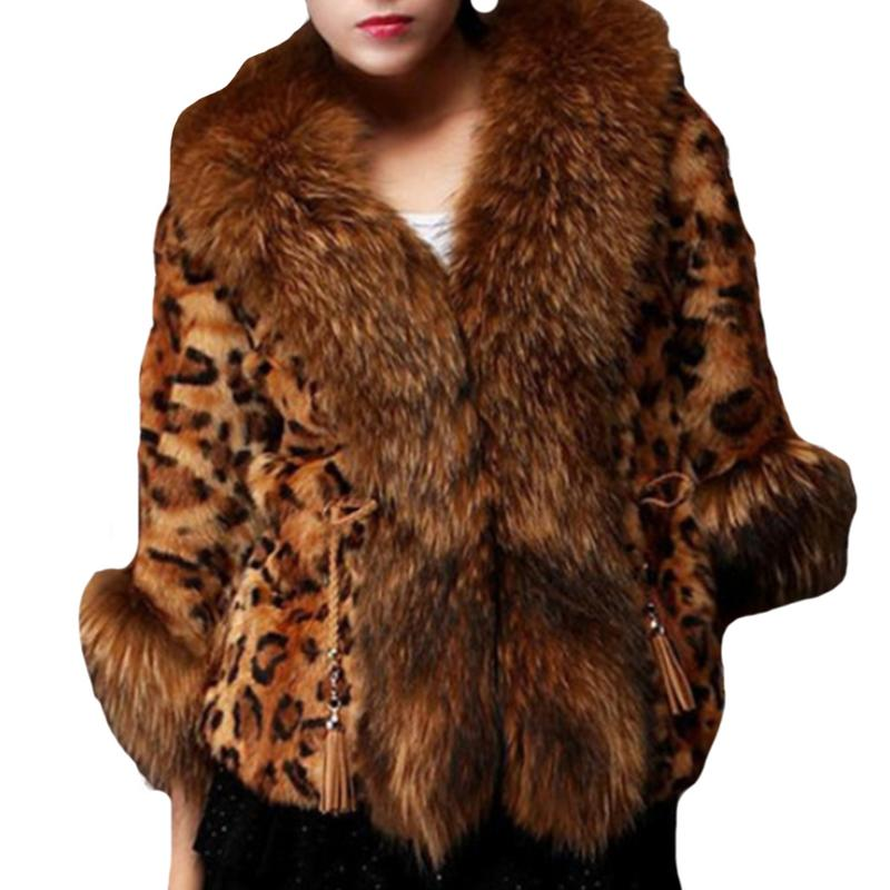 Fashion New Winter Warm Coat Women Faux Fox Fur Coat Plus Size Women Stand Collar Long Sleeve Faux Fur Jacket Fur Gilet Fourrure