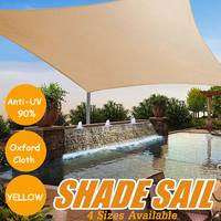 90% UV Protection Waterproof Oxford Cloth Outdoor Sun Shade Sails Sunscreen Net Yard Garden Outdoor Sun Protection Canopy