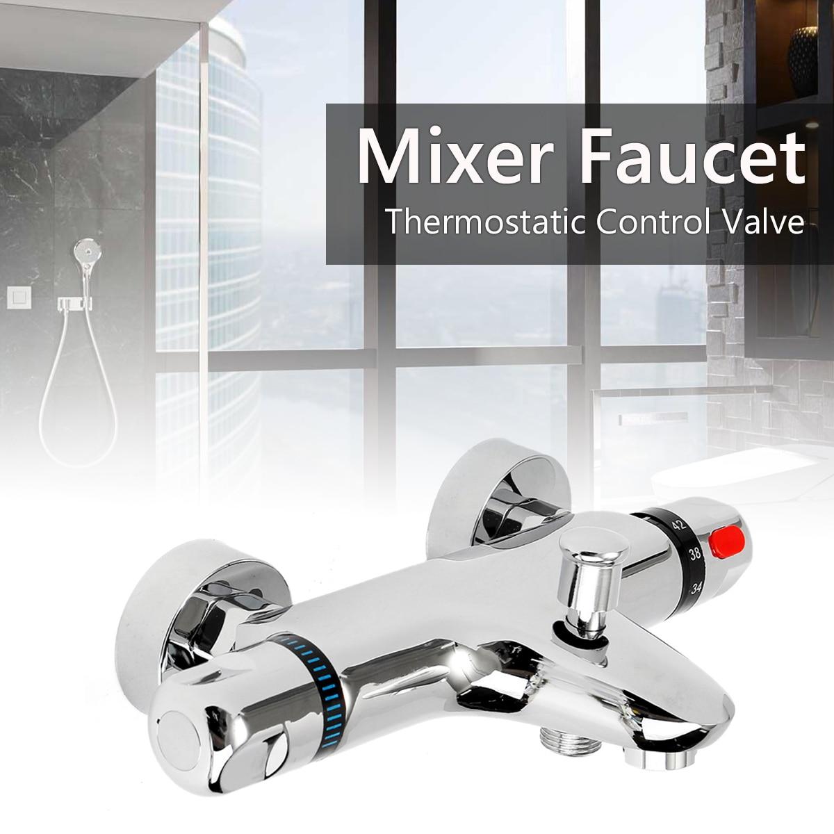 Xueqin Ванная комната для ванной смесители для душа воды управление клапан настенный керамика термостатический смеситель кран